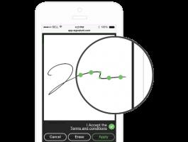 El sistema de autenticación de Signaturit incluye los datos biométricos de la firma manuscrita que se capturan durante el proceso de firma: la velocidad y la aceleración.